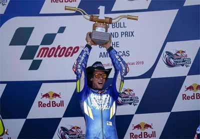 Alex Rins Podium 1 MotoGP Amerika.