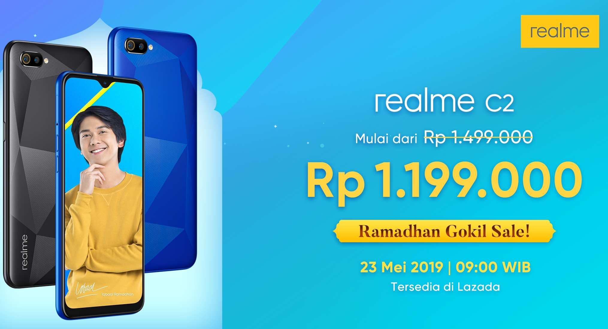 Realme memberikan penawaran khusus yang terbaik di Bulan Ramadan untuk realme C2 melalui program Ramadan Gokil Sale.