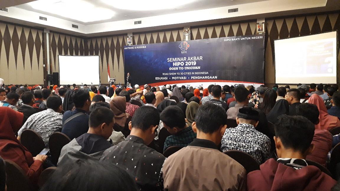 Tak kurang dari seribu peserta antusias ikuti seminar akbar HIPO Pekanbaru di Hotel Pangeran, Sabtu (31/8/2019)