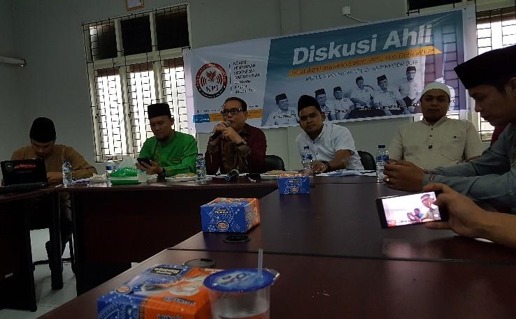 Diskusi ahli KPID Riau bekerjasama dengan KPU Kepulauan Meranti tentang iklan kampanye, Jumat (27/9/2019).