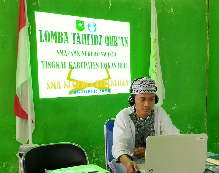 iswa AlwiAfriansyah wakili Rohul Lomba Tahfiz Quran Tingkat Riau.