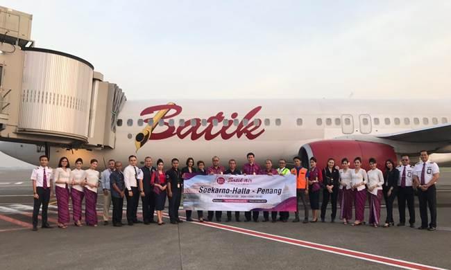 Penerbangan pertama rute Soekarno-Hatta, Tangerang ke Penang, Malaysia