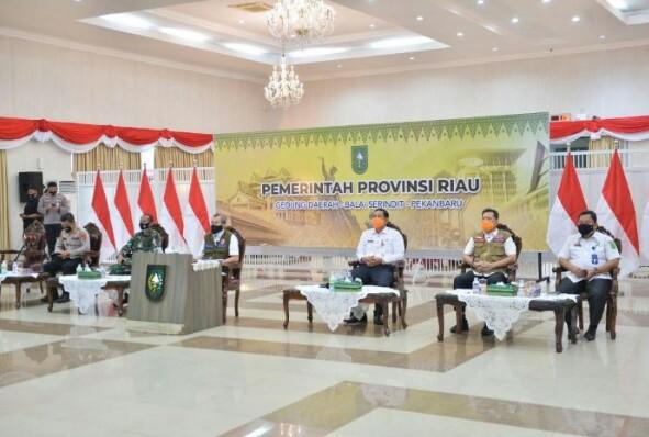Rapat virtual dengan Menteri Luhut Binsar Panjaitan.