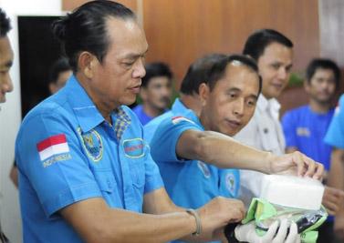 Deputi Pemberantasan BNN Pusat, Irjen Pol Arman Depari, saat ekspos kasus di Pekanbaru.