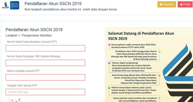 Laman Daftar situs SSCN.