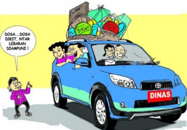 Ilustrasi mobil dinas dibawa untuk mudik