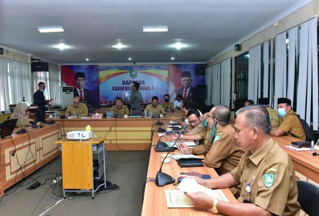 Rapat pembahasan RTRW Kabupaten Bengkalis.