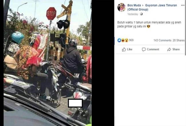 Gambar aneh membuat netizen heboh.