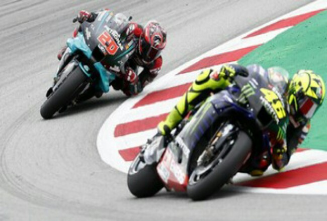 Valentino Rossi bertekad rebut podium di MotoGP Prancis. Foto: CNNIndonesia