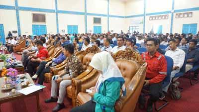 400 mitra PT RAPP mengikuti sosialisasi tentang keselamatan kerja di Gedung Datuk Laksamana Mangku Diraja, Pangkalan Kerinci