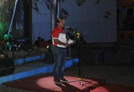 Wabup saat memberikan sambutannya dalam pembukaan Kejurnas Panjat Tebing di Inhu.