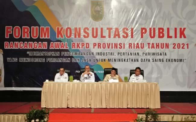 Acara forum konsultasi RKPD tahun 2021.