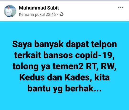 Postingan @Muhammad Sabit