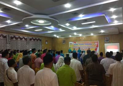 Rapat Pleno Terbuka Rekapitulasi Hasil Perhitungan Suara Pemilihan Gubernur dan Wakil Gubernur Riau Tahun 2018 tingkat Kabupaten.
