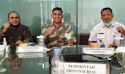 H Jonli sebagai Komisaris Utama dan Adel Gunawan sebagai Direktur Utama PT Pengembangan Investasi Riau