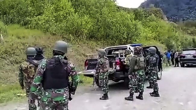Pasukan TNI di Papua.