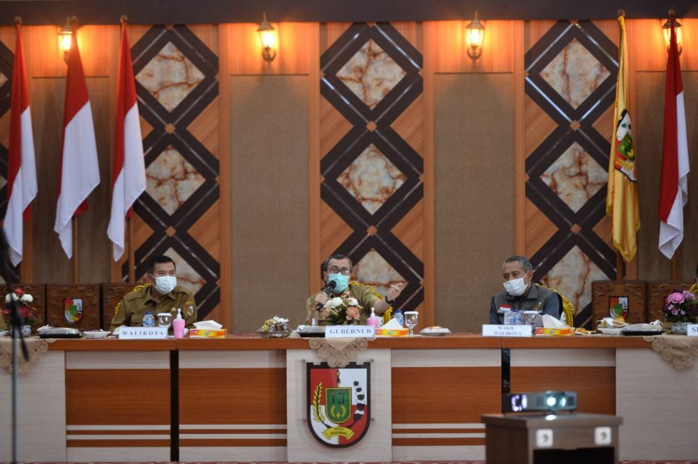 Rapat evaluasi PSBM Pekanbaru.