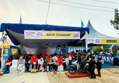 Yamaha ikut berpartisipasi Pesta Rakyat Klinik Pandau Sehat.