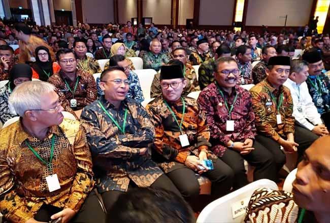 Walikota Dumai H Zulkifli AShadiri Rakornas Investasi 2020 di Jakarta.