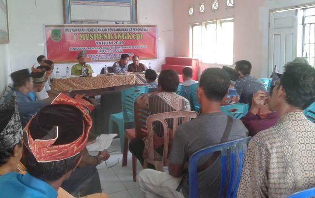 Musyawarah Rencana Pembangunan (Mesrenbang) tingkat Kepenghuluan Tahun Anggaran (TA) 2020 di Desa Labuhan Tangga Kecil, Kecamatan Bangko, Rohil.