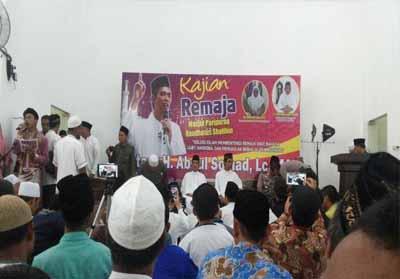 UAS saat beri ceramah di Masjid Raudhatus Shalihin, Jalan Bukit Barisan, Pekanbaru