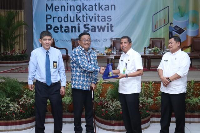 Business Development Service (BDS) Kantor Pelayanan Pajak Pratama Pangkalan Kerinci di kabupaten Siak Tahun 2019, di Gedung Tengku Mahratu Kota Siak, Rabu (11/12/2019).