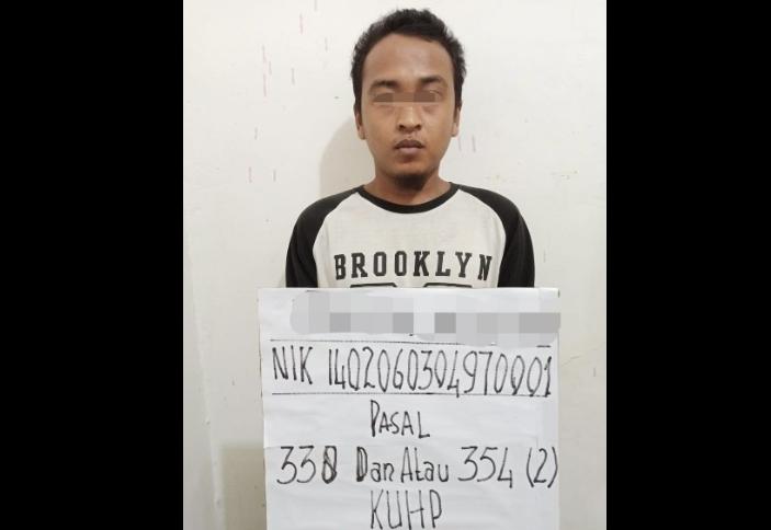 Pelaku dugaan pembunuhan di Inhu.