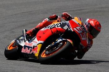 Marc Marquez saat balapan pada MotoGP Spanyol 2021. (Photo by PIERRE-PHILIPPE MARCOU / AFP)(PIERRE-PHILIPPE MARCOU)