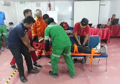 Salah satu pelatihan dalam upaya pertolongan pertama.