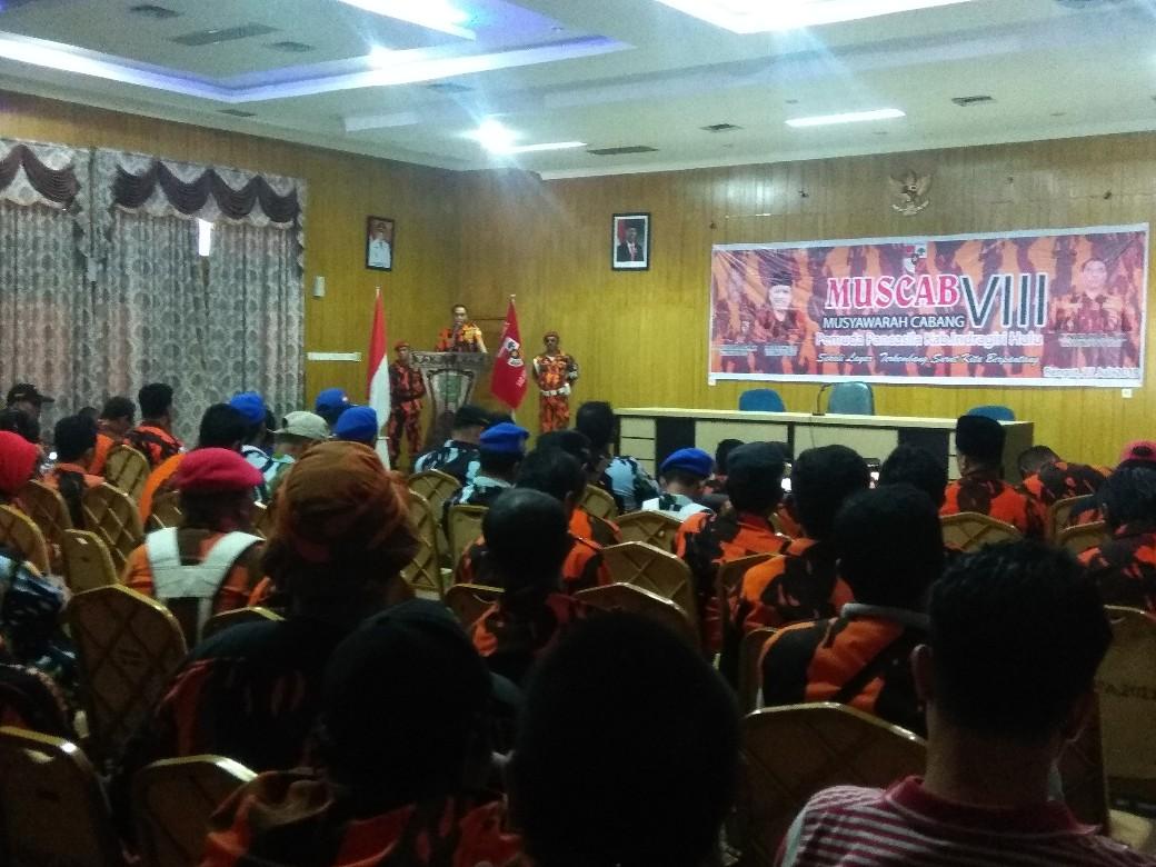 Musyawarah Cabang (Muscab) ke VIII, Sabtu (27/7/2019) siang di gedung Sejuta Sungkai Rengat Kota.