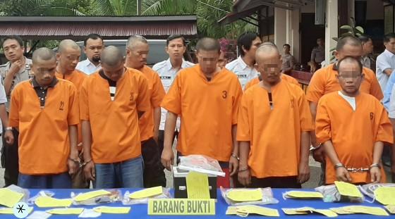 Saat press release di Polres Kabupaten Inhil.
