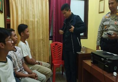Pemuda yang sempat viral di Medsos diamankan polisi.