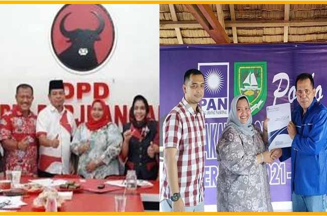 Kasmarni, saat berada di Kantor PDIP Kabupaten Bengkalis dan PAN Bengkalis.