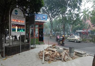 Kosentrasi Partikulat PM10 yang ditunjukan ISPU mencapai angka 207 di Kota Pekanbaru.