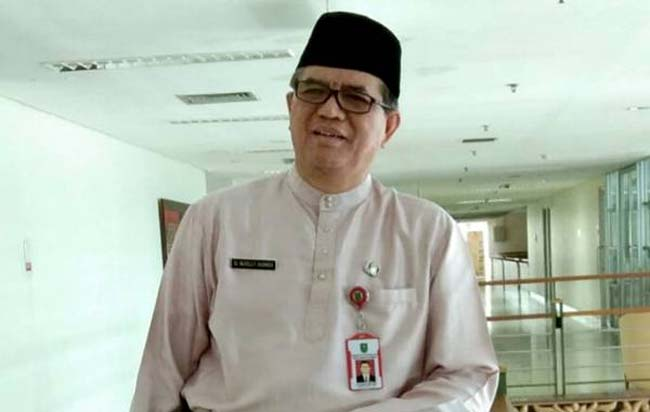 Direktur RSUD Arifin Achmad, dr Nuzelly Husnedi MARS