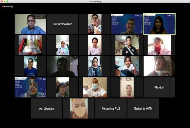 Pertamina RU II gelar seminarvirtual bertajuk Energik Talks mengangkattema Siasat Media Kala Pandemi Covid-19.