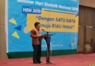 DBSS Margo Yuwono saat beri kata sambutan di acara HSN 2019.