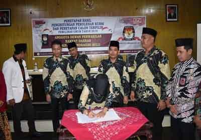 Penetepan 40 Dewan Perwakilan Rakyat Daerah (DPRD) terpilih oleh Komisi Pemilihan Umum (KPU) Daerah Kabupaten Indragiri Hulu