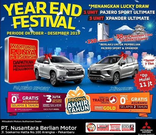 Mitsubishi Motors Authorized Dealer di wilayah Riau hadirkan Year End Festival