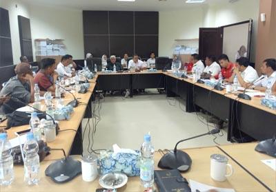 RDP di ruangan Banggar DPRD Kabupaten Inhil.