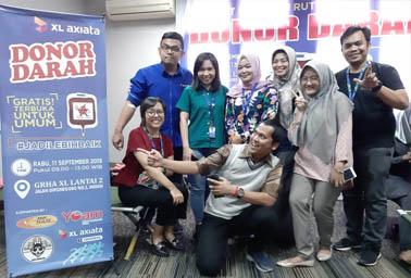 XL Runners yang ikut Donor Darah.