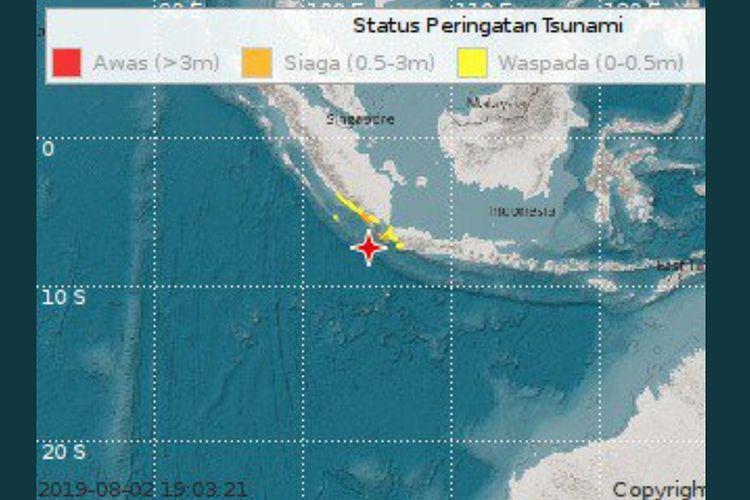 Gempa potensi tsunami.
