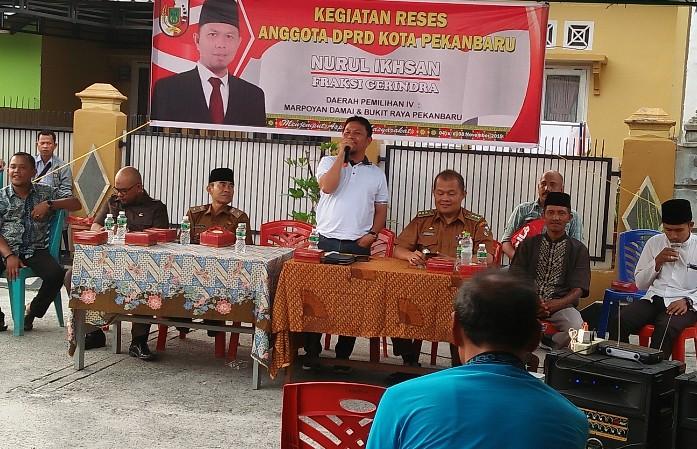 Reses Anggota DPRD Pekanbaru Nurul Ikhsan di Marpoyan Damai-Bukit Raya.