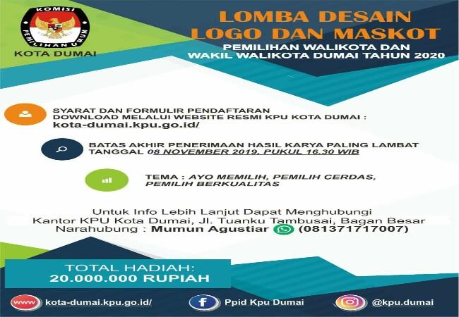 Kpu Gelar Lomba Desain Logo Dan Maskot Pilkada Kota Dumai 2020