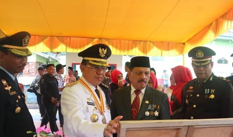 Bupati Kabupaten Inhil, HM Wardan menghadiri acara pemberian remisi umum bagi warga binaan Lembaga Pemasyarakatan Klas II A Tembilahan