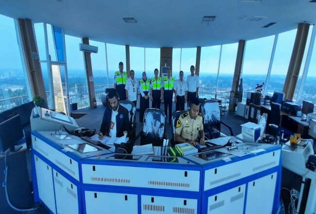 Airnav buat posko monitoring di Bandara SSK II.