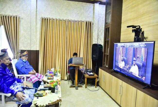 Rapat Paripurna Istimewa HUT Riau dilakukan secara virtual.