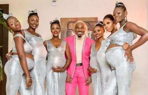 Pretty Mike dan 6 wanita hamil yang diakuinya sebagai hasil hubungan dengan mereka.