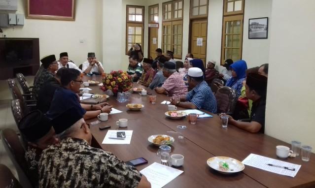 Pertemuan LAM Pekanbaru dengan tokoh Pekanbaru di Balai Adat Melayu Kota Pekanbaru, Sabtu (5/10/2019).