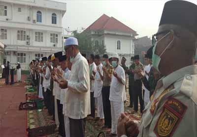 Pemkab Rohil gelar Salat Istisqa kedua kalinya.